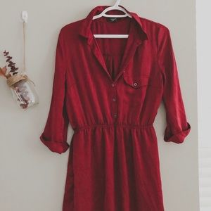 FOREVER 21 🍷 color short dress/tunic in satin💃🏻